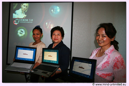 "Winners of the second Thai group contest in VERIM's ""Dolphins Run"""
